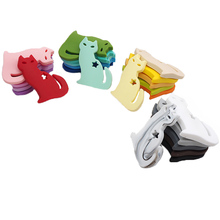 Chenkai 10PCS BPA Free Baby Teethers Silicone Lovely Cat Teether Food Grade Pacifier Dummy Sensory Toy Teething Gfit