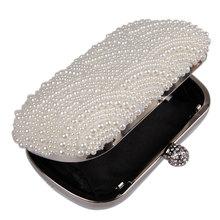 Oval Shaped Pearl Beaded Handbag For Wedding