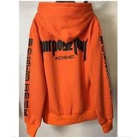 Justin Bieber STAFF Hoodie Purpose Tour Sweatshirt Men Orange Pullover Alchemist Tracksuit Oversize Crossfit Hoodies Women
