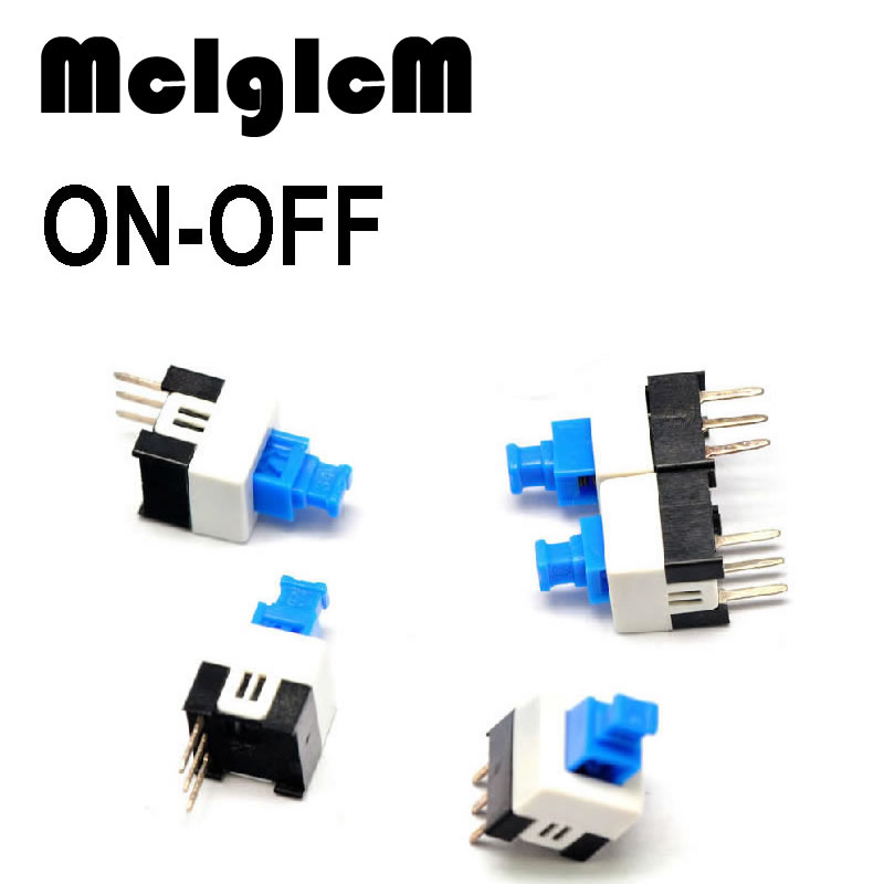 H014-12  Free shipping 10pcs 7x7mm Self-locking Type Square Button Tactile  Button Switch Tact DIP Through-Hole 3pin tn2ss rotary button switch gear selection type 2 22mm with self locking
