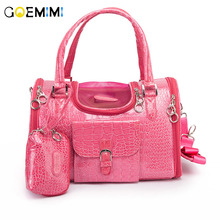 New Arrival Pu Leather Small Cat Dog Carrier Bag Top Quality Foldable Pet OutDoor chihuahua Puppy Handbag