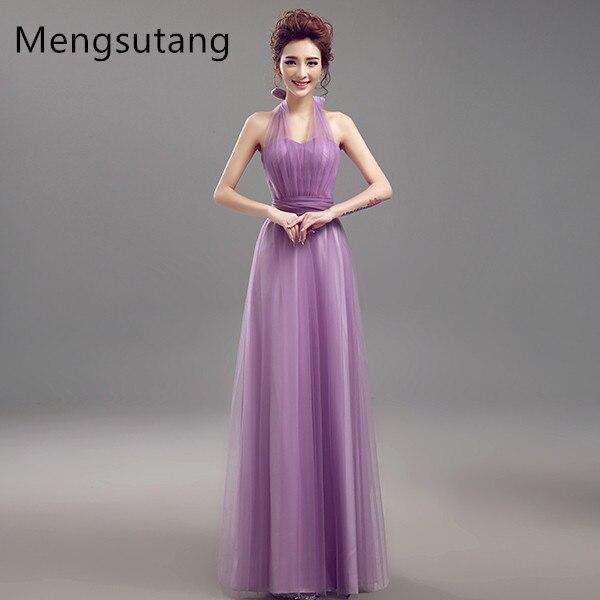 Robe de soiree 2017 new Vestidos De Novia multiway dress Purple Lavender Bridesmaid Dresses Beautiful Vintage