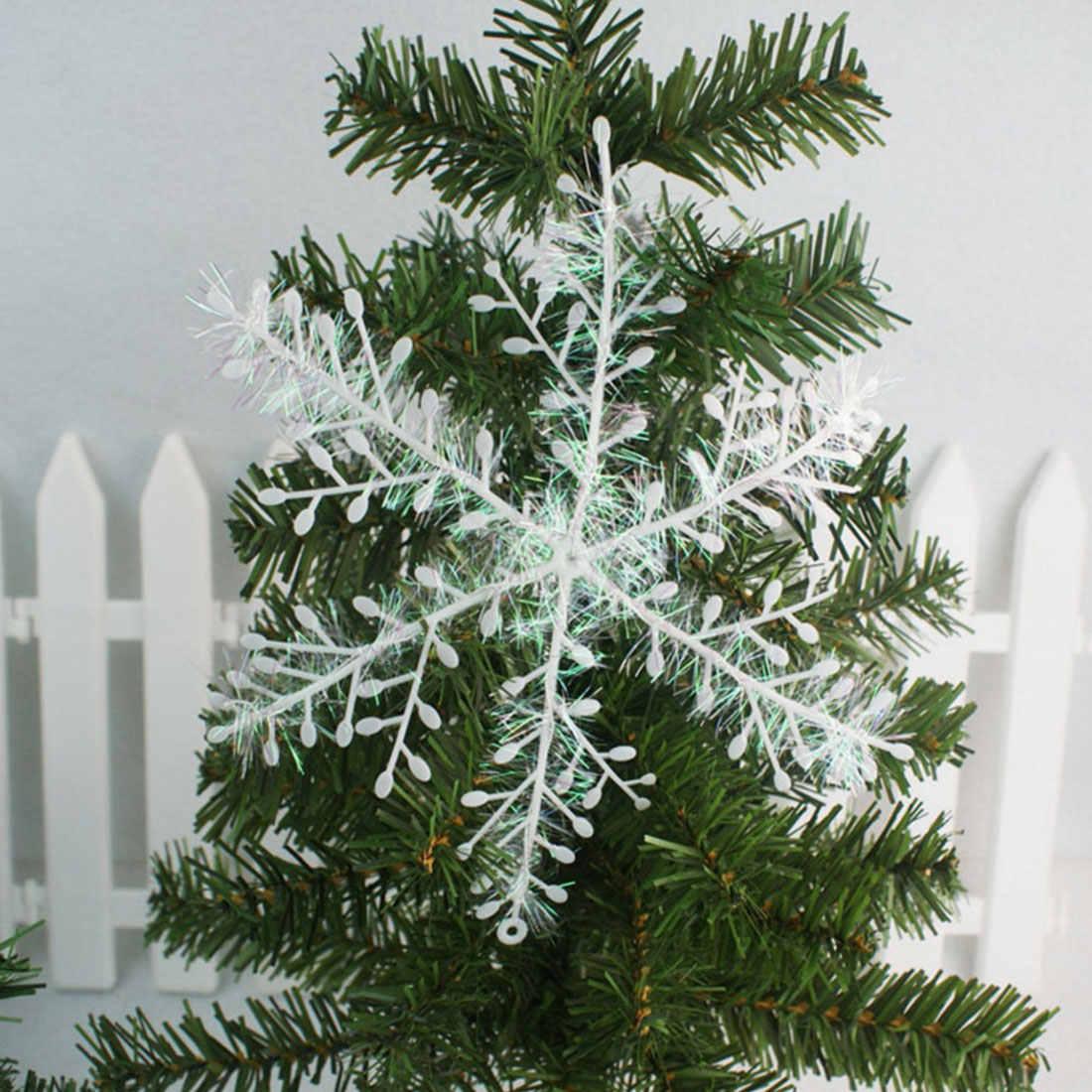 Hot Koop Xmas Kerstboomversiering Witte Sneeuwvlokken Plastic Kunstmatige Sneeuw Kerst Decoraties voor Huis