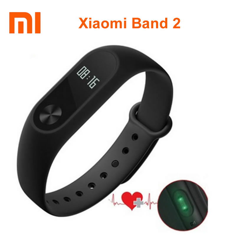 imágenes para Xiaomi Mi Band 2 With OLED Display Touchpad Smart Heart Rate Monitor Fitness Tracker Pedometer Wristbands