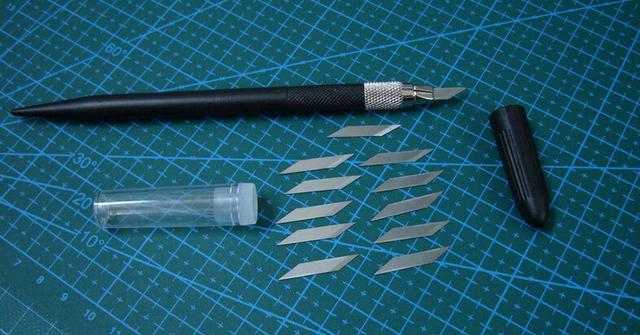 Corpo de alumínio shipp livre sharp caneta escultura em madeira faca ferramentas filme pcb escultura faca escultura faca with12pcs lâminas do cortador de papel