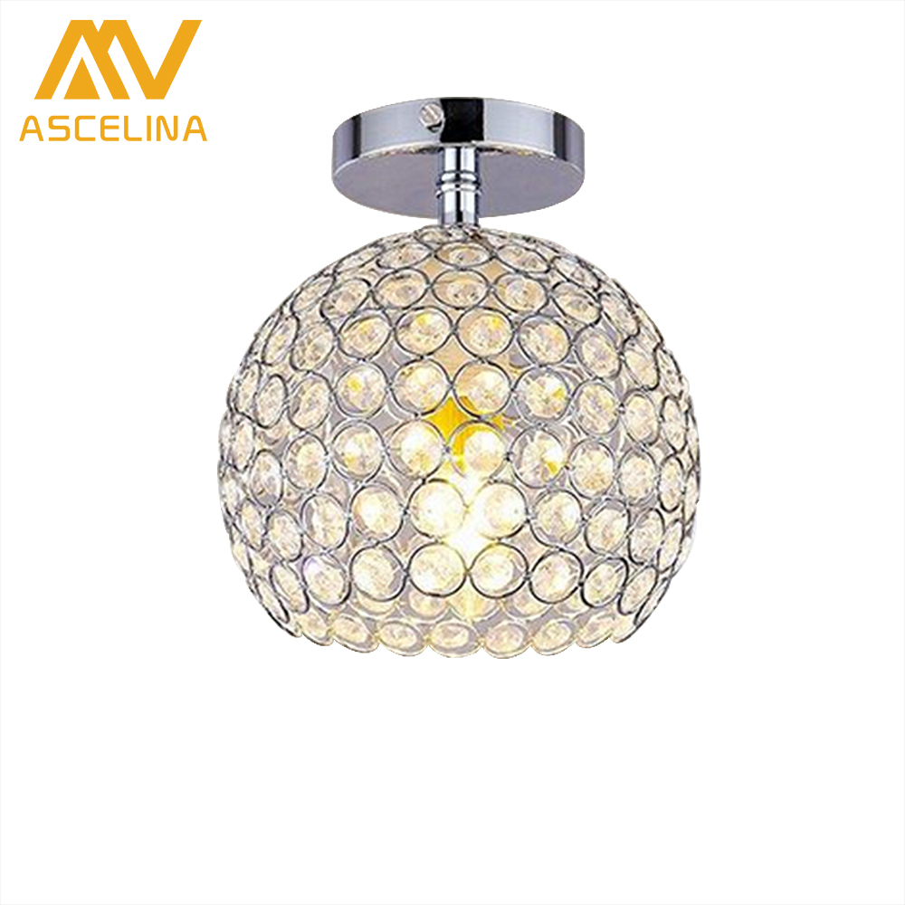 ASCELINA LED Modern Ceiling Light with crystal lampshade ceiling ...