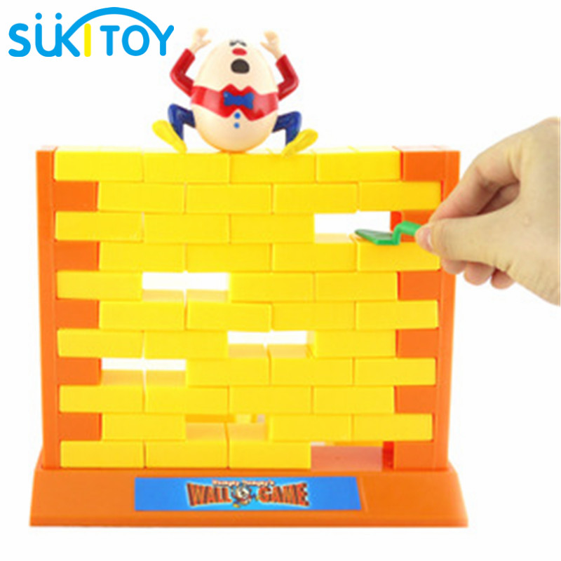 SUKIToy Desktop Game Toy Wall demolish game Educational Soft Montessori children play game with family humpty dumpty creative 2 styles kids funny wall demolish game humpty dumpty s wall game parent child interactive game for children edaucational toys
