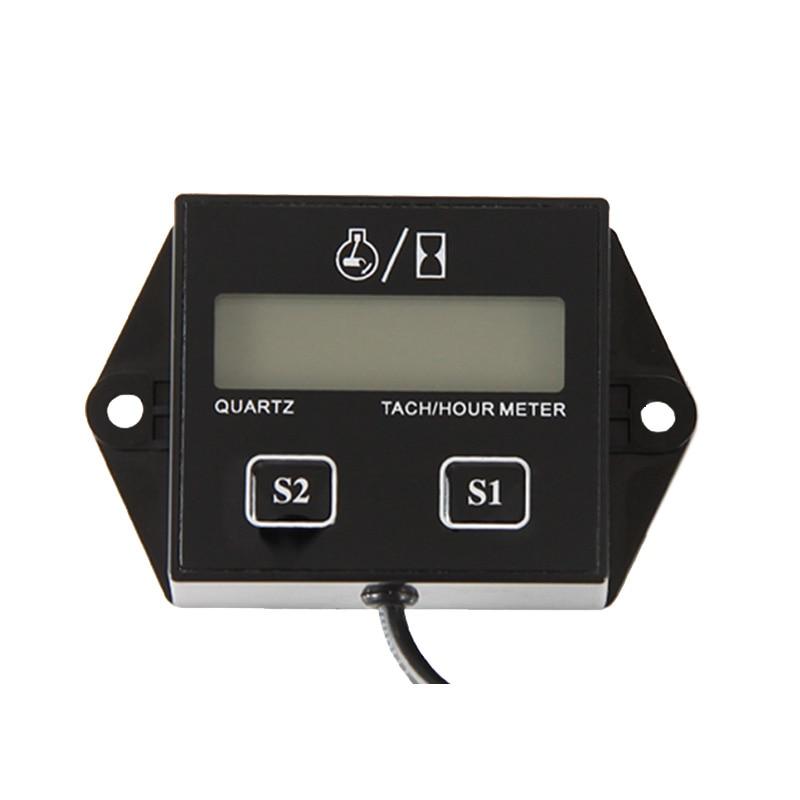Digital Resettable Petrol Engine Gas engine Hour Meter Tachometer For Jet Ski,,Motorcycle,Lawn MowerATV,Boat,Generator 011N