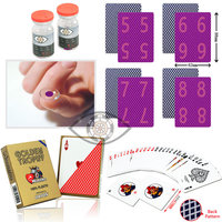 Marked Trick Modiano Poker Plastic Playing Cards Marked Cards for Contact Lenses Magic Poker Invisible Pen Marker Cheat Poker