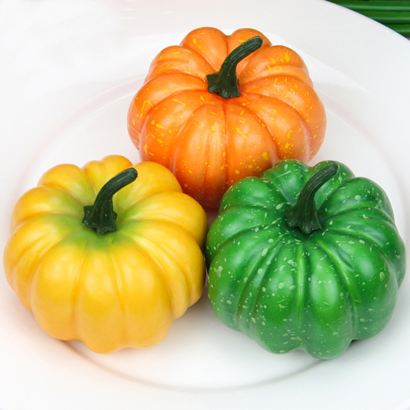 050 Imitation pumpkin yellow imitation foam dummy pumpkin model cabinet decoration in Artificial Foods Vegetables from Home Garden
