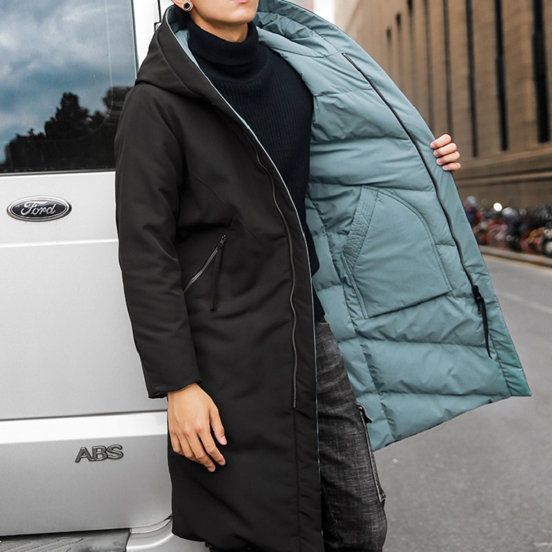 NO 1 DARA 2018 nouvelle doudoune pour hommes marque vêtements long hiver épais canard chaud vers le bas veste masculine haut qualité Porter sur les deux côtés