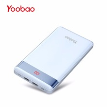 Yoobao P20000L 20000mAh Utral-thin 2 USB Output/Input Portable Device Charger with Digital Display External Battery for Phones