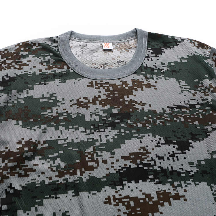Military training suit T-shirt short sleeve Summer student children's wear quick-drying camouflage uniform