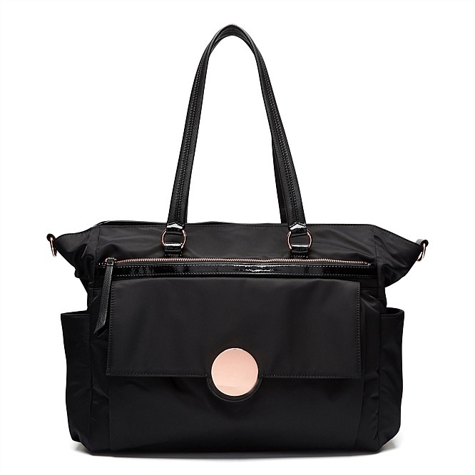 THE BAGS MI LOVES BLACK ROSEGOLD TIRNLOCK BAG SUPER NATURAL BAG BABY BAG image