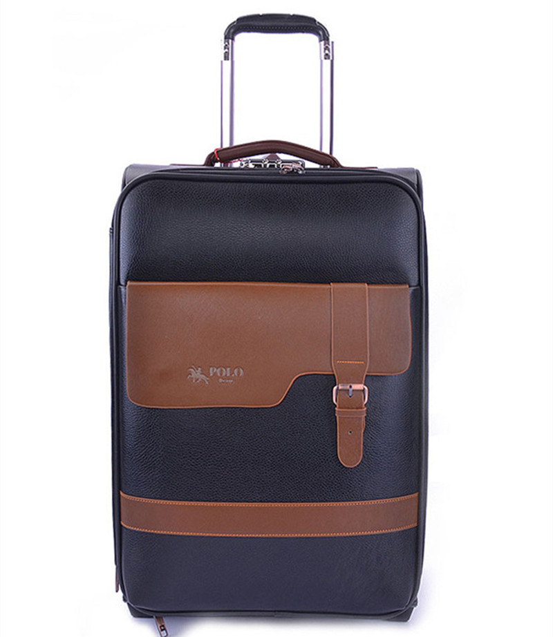 BOLO BRAVE 16,20,24 Inch,Spinner wheel,PU Retro box,Lightweight, shock bag Travel Suitcase,Trolley Case,Business Rolling Luggage
