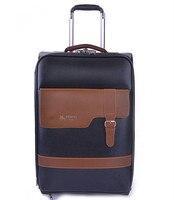 Free Shipping Paul PU Leather Luggage Trolley Luggage Travel Bag Luggage 16 20 24 New 2014