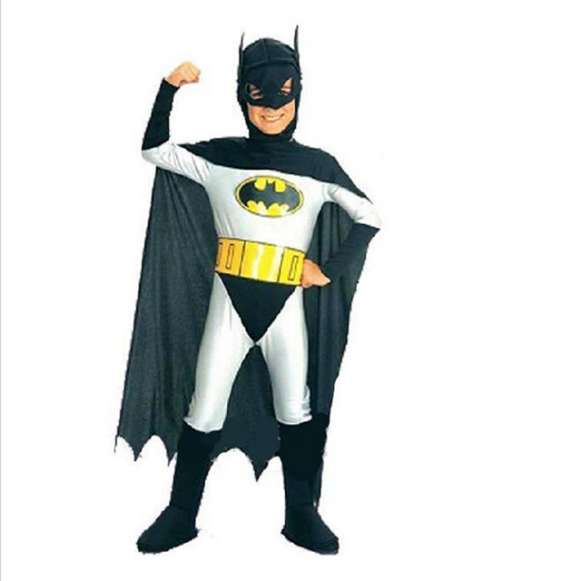 Hot Selling Batman Costume For Kids Cool Children Halloween Cosplay ...