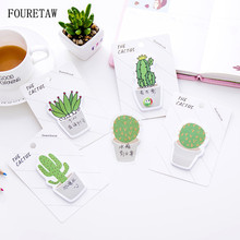 30 Pages/pc Cartoon Creative Kawaii Green Cactus Home Decorative Fridge Magnets Convenient Message Memo Pad Sticker Page Marker ftw green page 8