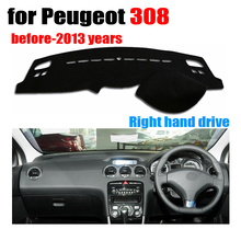 FUWAYDA font b Car b font dashboard covers mat for Peugeot 308 before 2013 years Right