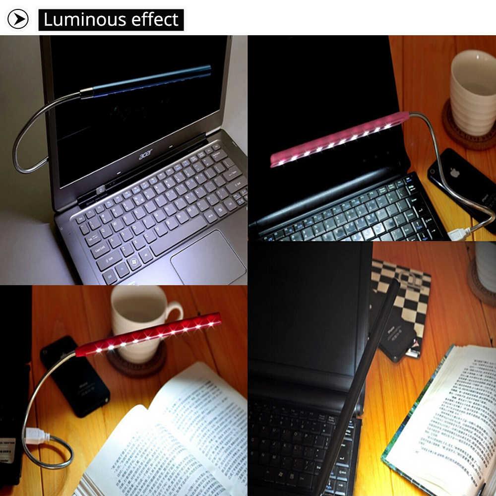 Linh hoạt Siêu Sáng Mini 10LED USB Vỏ Kim Loại Để Bàn Đọc Sách Đèn Ngủ Led Máy Tính Đèn cho PC MÁY TÍNH BẢNG Lập đầu Đèn