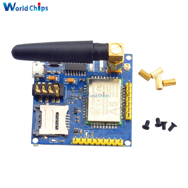 A6 GPRS Pro Serial GPRS GSM Module Core DIY Developemnt Board TTL RS232  With Antenna GPRS Wireless Module Data Replace SIM900