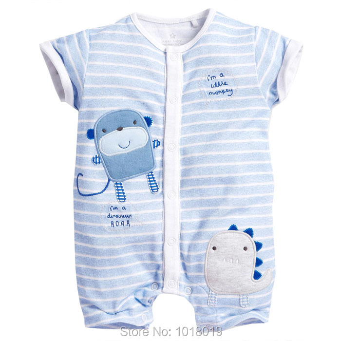 New 2017 Quality 100% Cotton Ropa Bebe Summer Newborn Baby Boys Clothing Clothes Creeper Jumpsuits Short Sleeve Rompers Baby Boy newborn baby rompers high quality natural cotton infant boy girl thicken outfit clothing ropa bebe recien nacido baby clothes