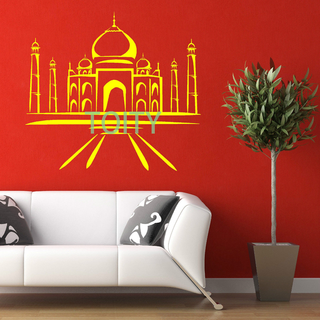 TAJ MAHAL Vinyl Wall Art Mural Sticker Room Decal Asian Oriental - Vinyl wall decals asian