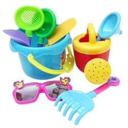 9pcs sand sandbeach kids beach toys castle bucket spade shovel rake water pretending toys gift levert.jpg 250x250