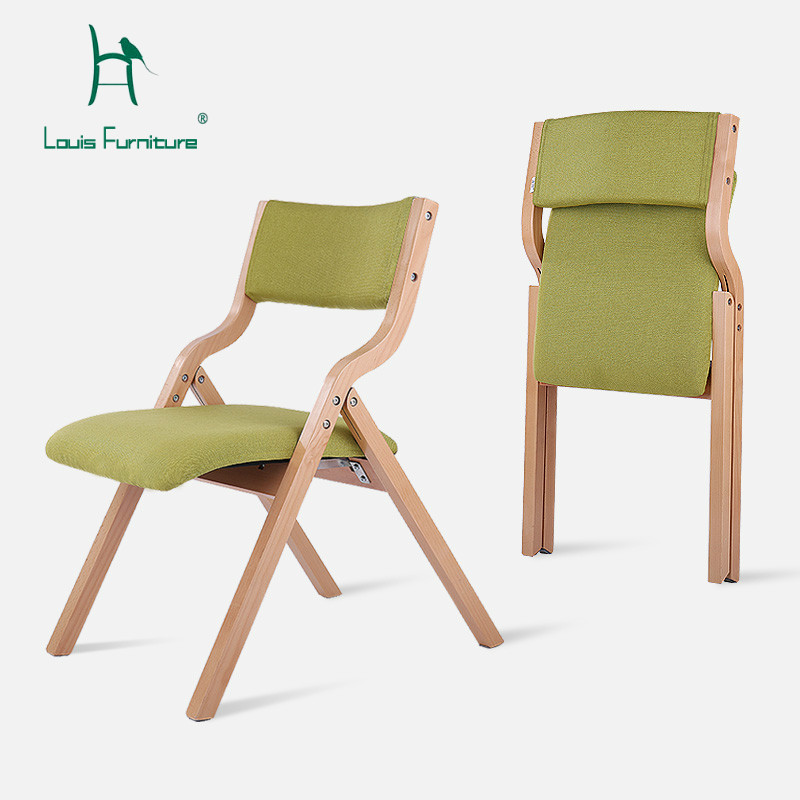 Louis Fashion Living Room Chairs Wooden Folding European Style