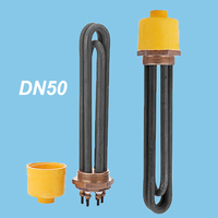 1.5 Inch 3KW Electric Heat Pipe for Solar Water Tank, Stainless Steel Heating Tube, 3U Bundle Immersion Water Heater Elements