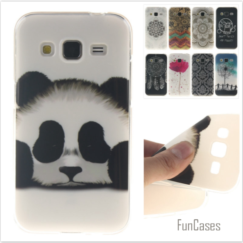 Fashion cute Tiger Lion Pattern soft silicone TPU phone cases for Samsung Galaxy Grand Prime G530 G531 Flower Cartoon Fundas