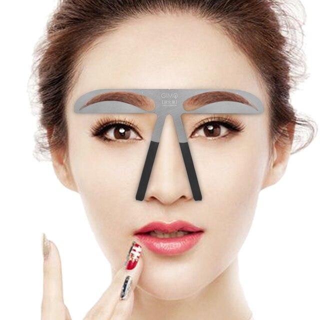 Trucco Del Sopracciglio Stencil Righello Sopracciglio Metallo Posizione Permanente di Trucco Del Tatuaggio a Forma di Righello per la Bellezza Cosmetici FAI DA TE Modello di Strumenti di