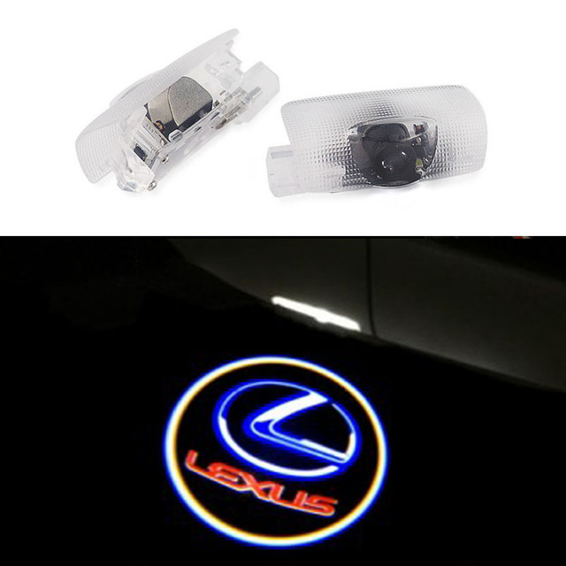 2pcs Led Car Door Logo Ghost Shadow Laser Projector Light For Lexus