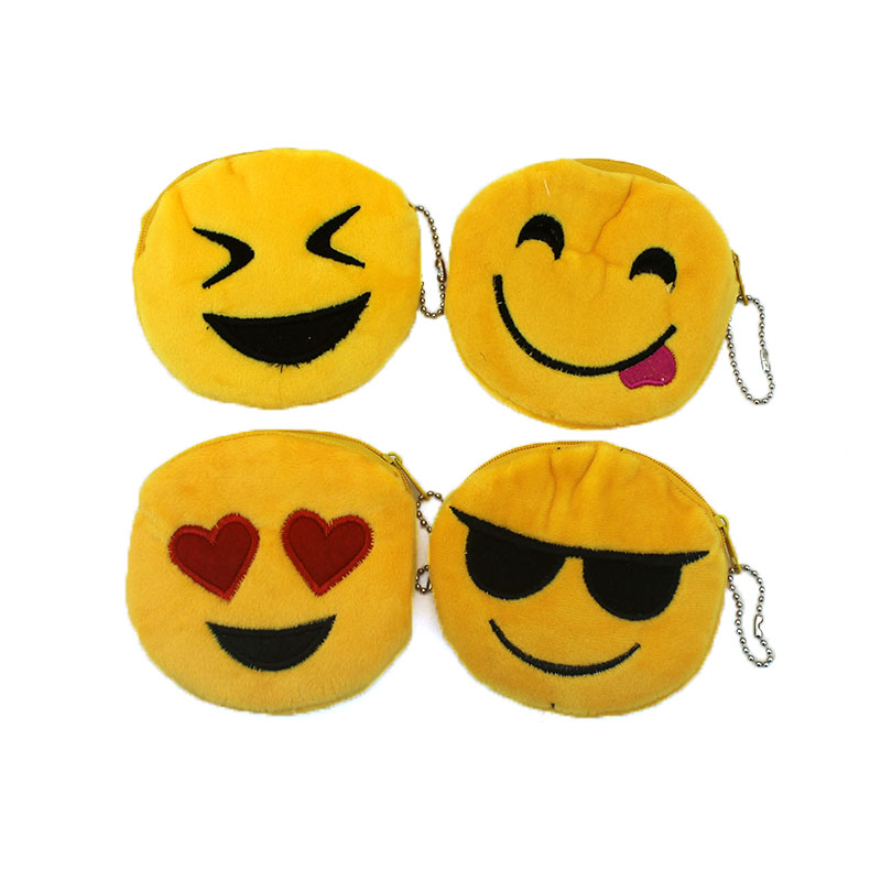 Hot on Sales Novelity Emoji coin purses kids Plush ladies small wallet bag key case women handbag Card Holders Gift For Children hot sales frp kiddie ride on toy cars coin operated kiddie ride coin swing riders for kids swing machine