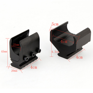 Image 2 - 1pc 2 Styles Single/Double Tube Shotgun Picatinny Rail Adaptor for 20mm Rail Mount Hunting Tactical Accessories