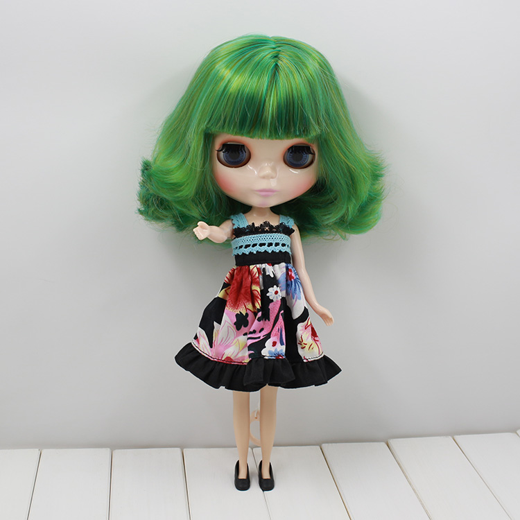 Free shipping Nude Blyth Doll For Series No 130BL4298 4003 Green mix yellow hair Suitable For