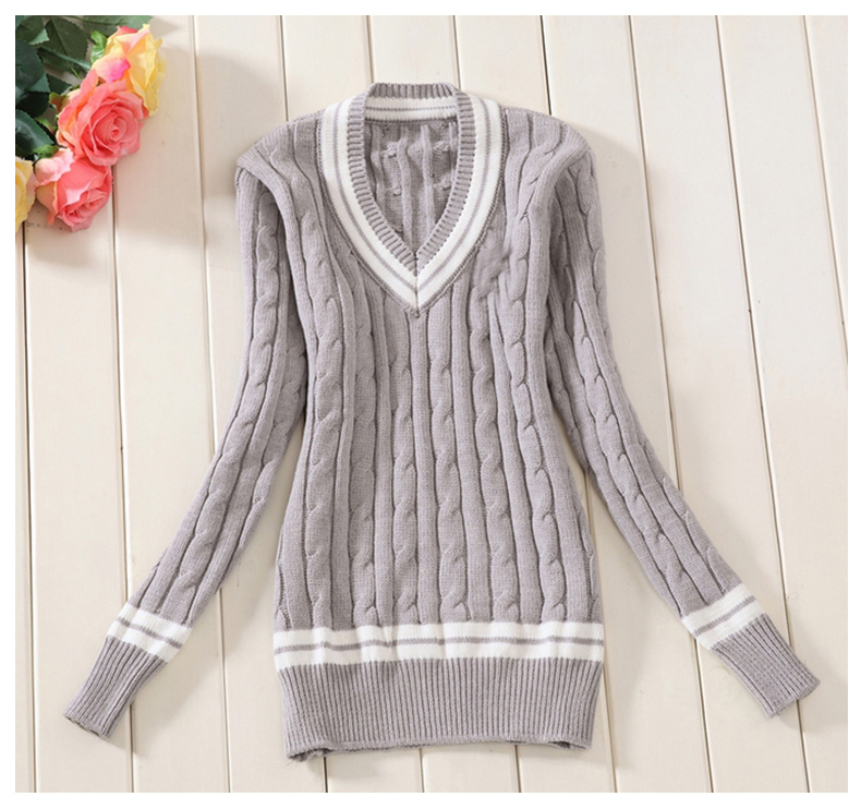 Aliexpress.com  Buy Navy Blue,White,Grey,Pink 100% cotton Womn Sweaters  school uniform sweater for girls V neck Korea preppy style fashion  pullovers from