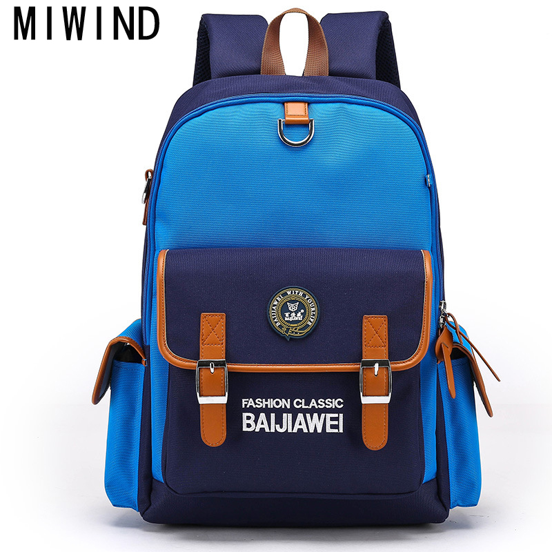 MIWINDKids New Children School Bags For Girls Boys Children Backpack In Primary School Backpacks Mochila Infantil Zip TBE091