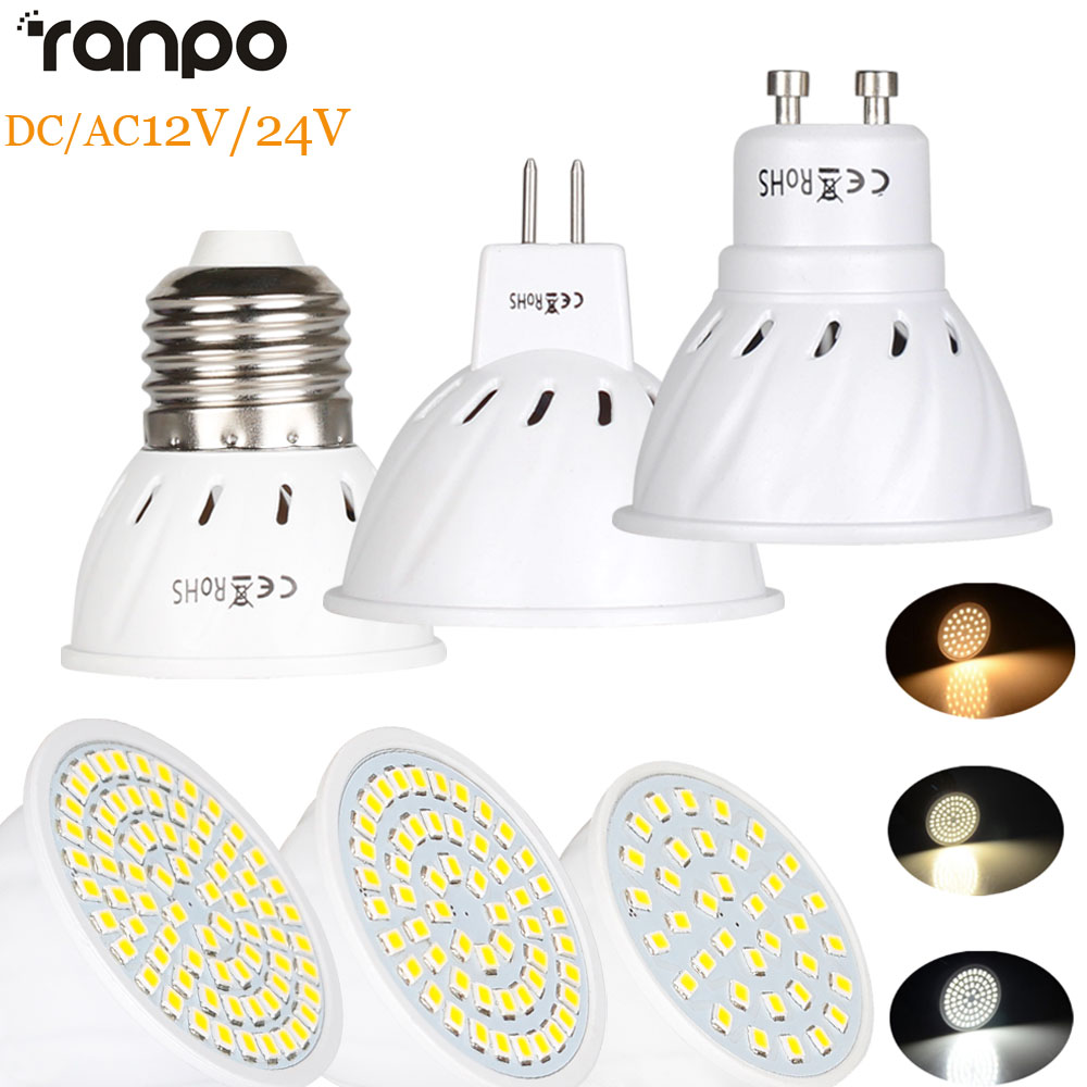 LED Spotlight GU10 E27 MR16 Led Lamp 4W 6W 8W 2835SMD AC/DC 12V 24V 36Leds 54Leds 72Leds LED Bulb Lighting Lampara Spot Light