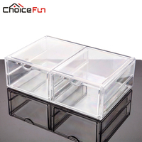 New Arrival 2016 Plastic Box Makeup Organizer Tool Box Acrylic Drawer Organizer For Cosmetics Makeup Container