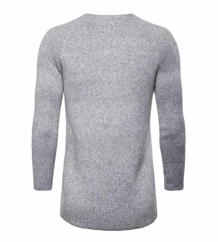 Новый европейский и американский длинный кардиган вязаный мужской свитер осенний утепленный серый свитер модный мужской трикотаж длинный плащ Мужской