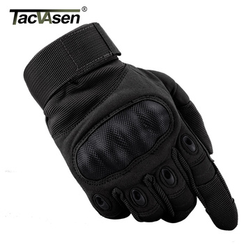 TACVASEN Tactical Gloves Men Army Paintball Gloves Mitten Armor Protection Shell Full Finger Gloves Military Airsoft Accessories 1