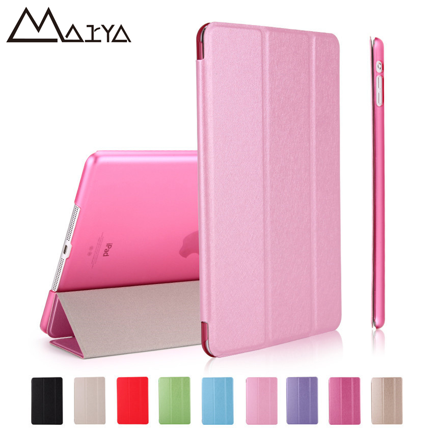 Case For iPad Pro 12.9 Transparent Back PU Leather Ultra Slim Trifold Wake-up Smart Tablet Case For iPad 12.9 Cover Light Weight soft case back cover for xiaomi redmi 4 pro transparent