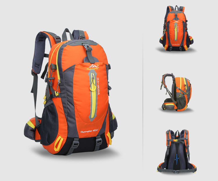 Ao ar livre mochila 40l viagem escalada