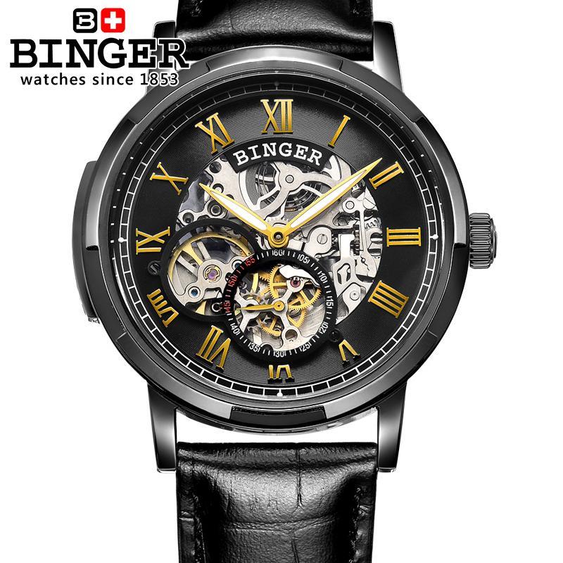 Szwajcaria zegarki męskie zegarki męskie luksusowej marki BINGER - Męskie zegarki - Zdjęcie 3