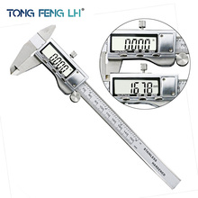 "Discount! TONGFENG 6 ""/ 0-150mm LCD Screen Smooth-gliding Durable Stainless Steel Digital Caliper Electronic Measuring Tool"