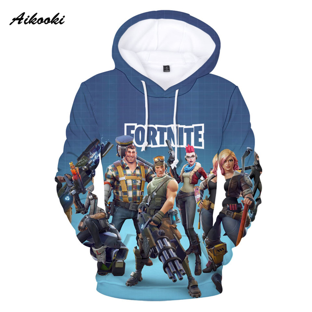 Aikooki Full 3D Print Game Fortnite Hoodies Men Cap Sweatshirt Polluver Harajuku Fortnite Battle Royale 3D Printed Men Clothing 5