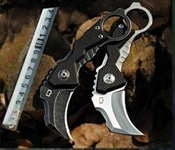 Karambit nóż AUS 8 ostrze 59HRC G10 uchwyt składany nóż dobre narzędzie edc odkryty camping survival eksploracja scyzoryk w Noże od Narzędzia na