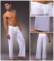 2016  free shipping Summer sleepwear pajama pants male smooth  pants  loose pajama pants