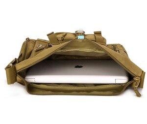 Image 3 - الرجال 1000D النايلون رسول حقيبة كتف حقيبة طالب العسكرية الرحلات حقيبة كمبيوتر محمول